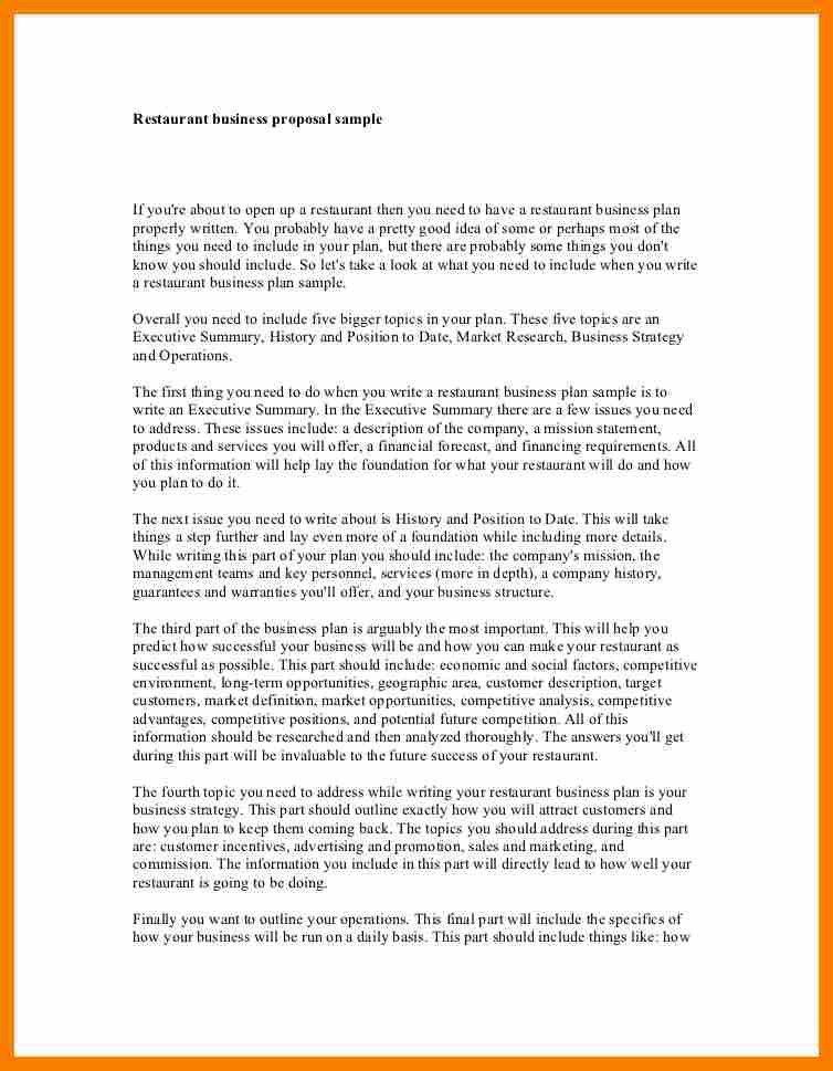 Restaurant Concept Examples.restaurant Business Proposal Sample 1 ...