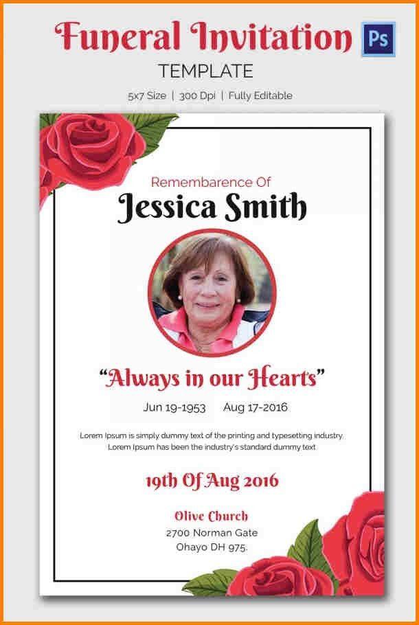 7+ funeral invitation templates | artist resume