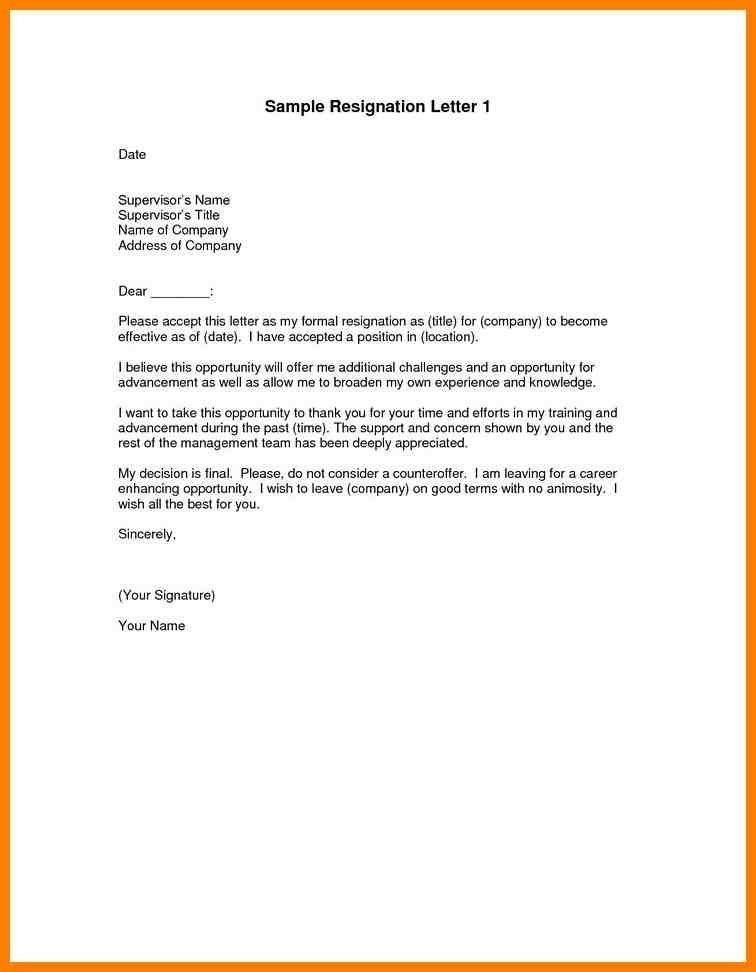 7+ formal resignation letter sample | artist resumes