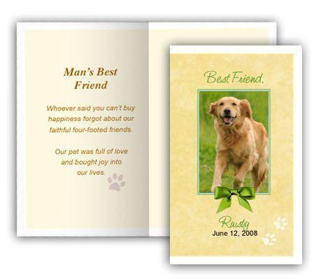 19 best Pet Memorials Templates images on Pinterest | Apple, Card ...