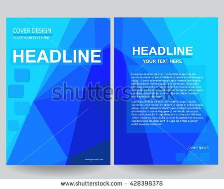 Abstract Flyers Brochure Annual Report Design Stock Vector ...