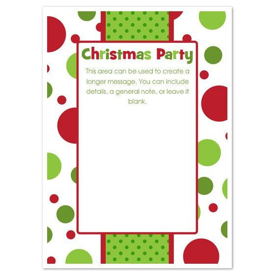 Party Invitations: Simple Christmas Party Invitation Template ...