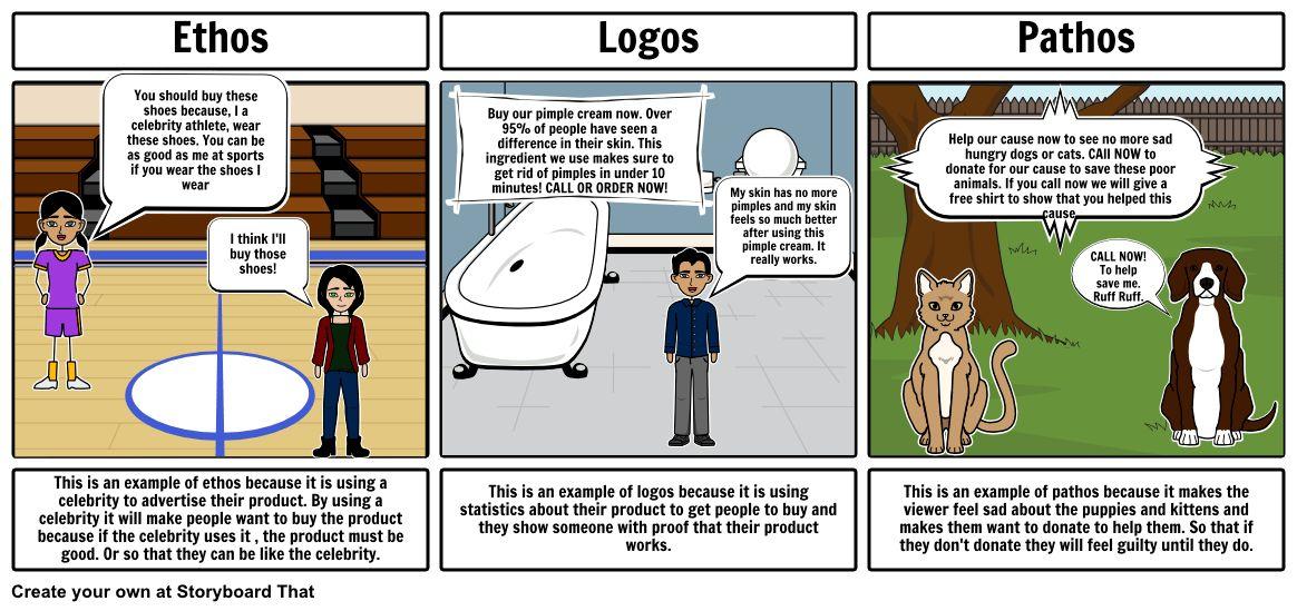 Ethos, Pathos, Logos Storyboard by ebony14