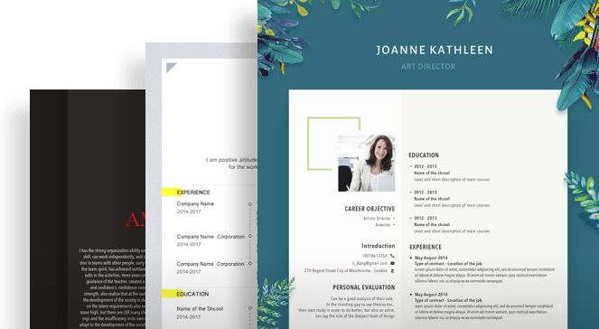 FREE Professional Resume Templates Help You Win the Job!