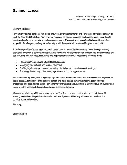 Legal Cover Letter Sample Cover Letters Harvard Law School Law ...