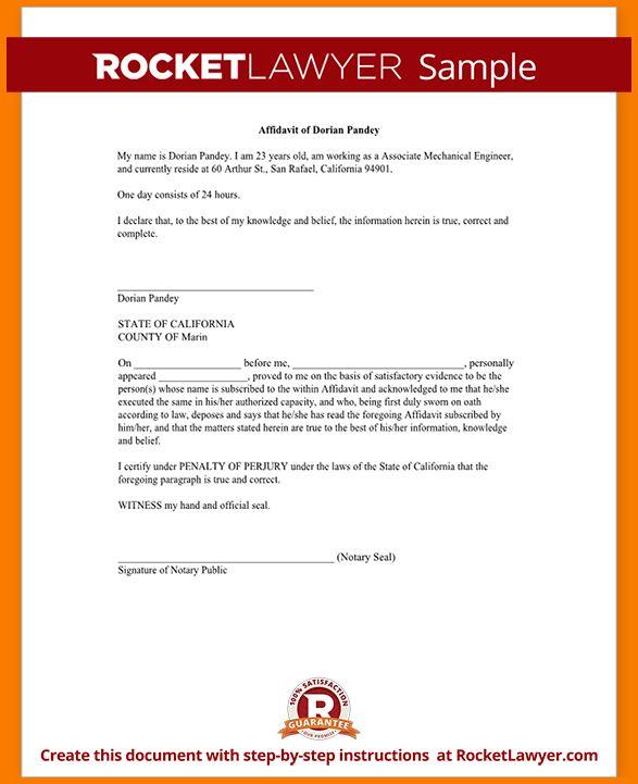 5 free affidavit template | Receipt Templates