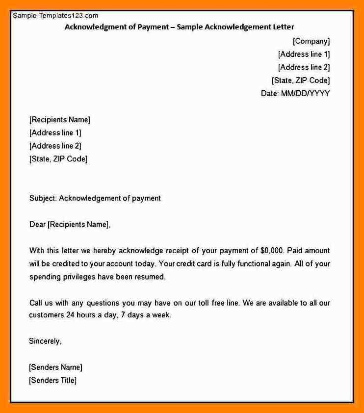 9+ acknowledgment letter   addressing letter