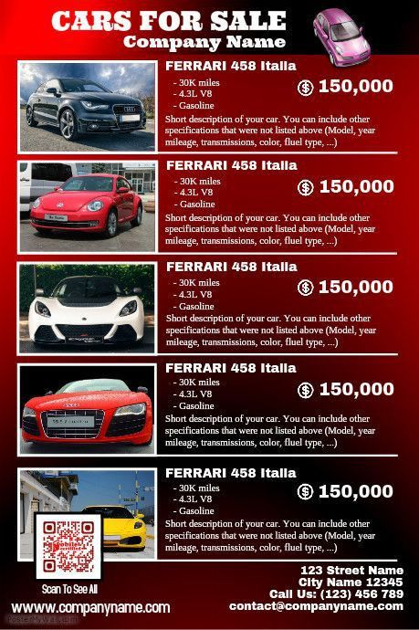41 best Car Dealer Flyer (DIY) images on Pinterest | Posters ...