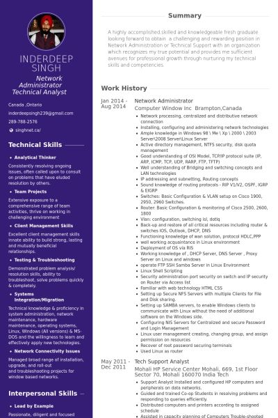 Sweet-Looking Network Administrator Resume 8 9 Best Images About ...