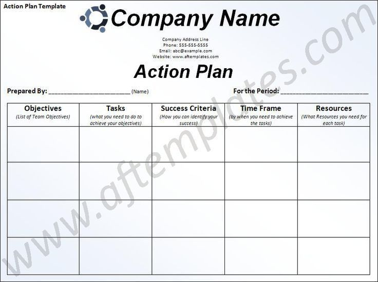 Daily Action Plan Template : Selimtd