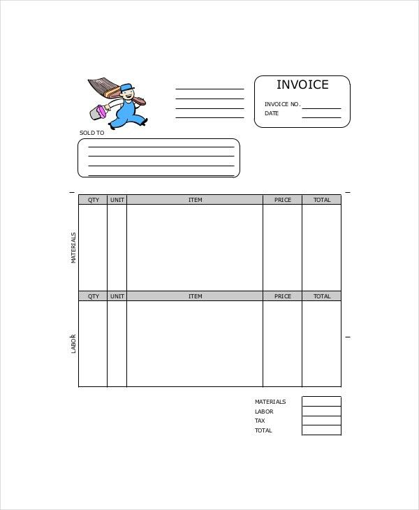 Painting Invoice Template   7+ Free Excel, PDF Documents Download .