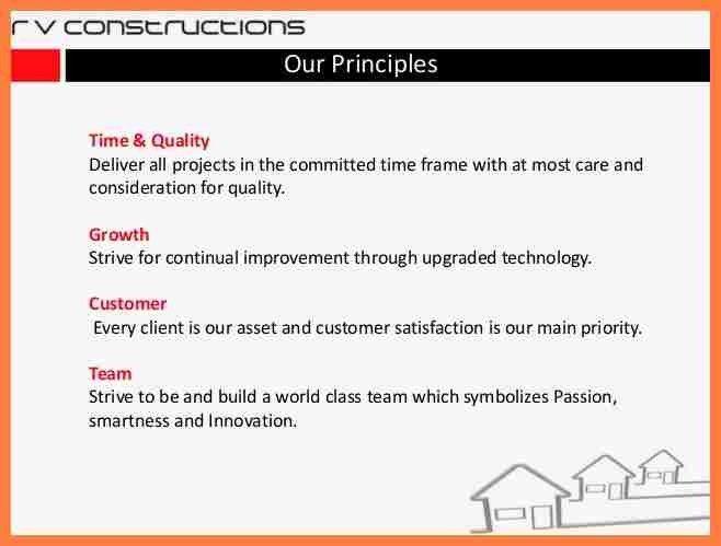 4+ construction company profile template | Company Letterhead