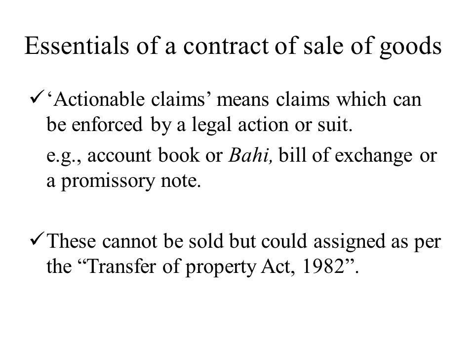 SALE OF GOODS ACT ppt download