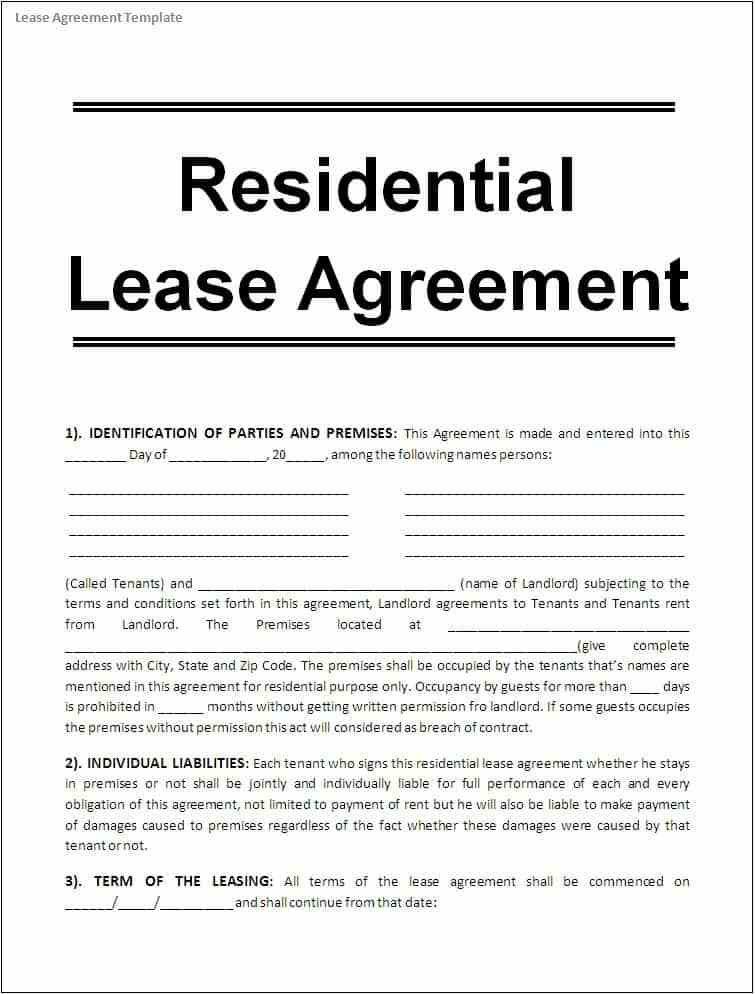 10 + Apartment Rental Lease Agreement Form Word – Project ...