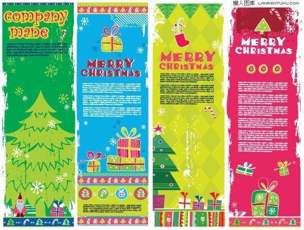 Cartoon Christmas Bookmarks – vector material | My Free Photoshop ...