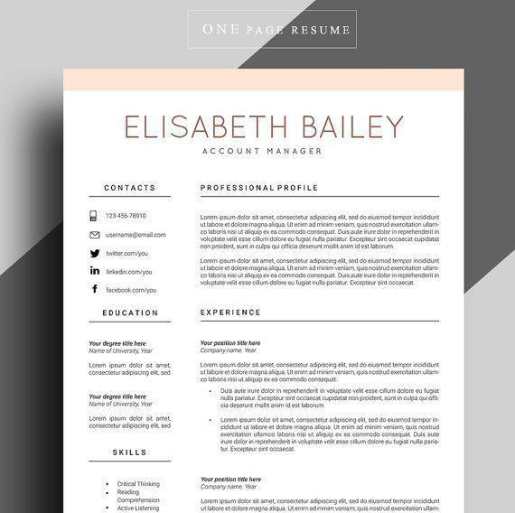 Best 25+ Online resume template ideas on Pinterest | Online resume ...