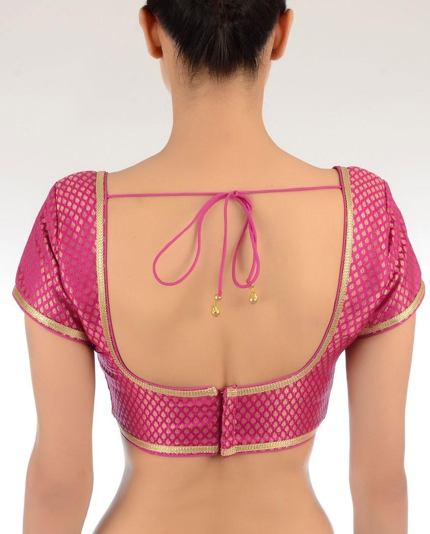 simple saree blouse back neck design fashion pinterest