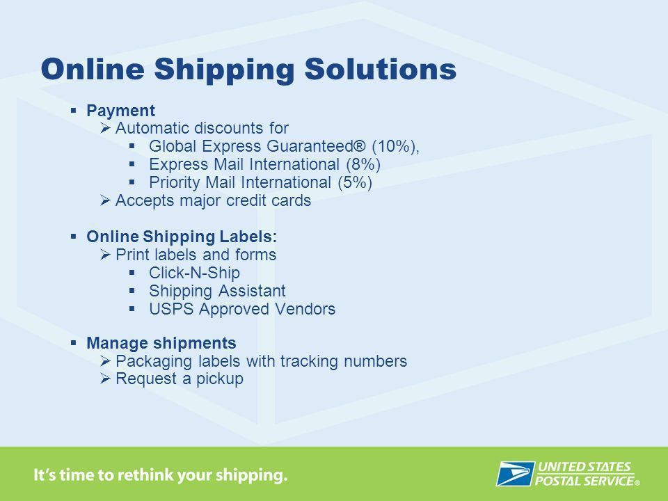 Rethink Your Shipping: - ppt download