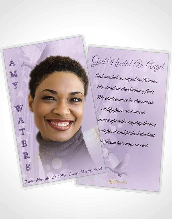 Prayer Card Template Free Spirit Lavender Honor