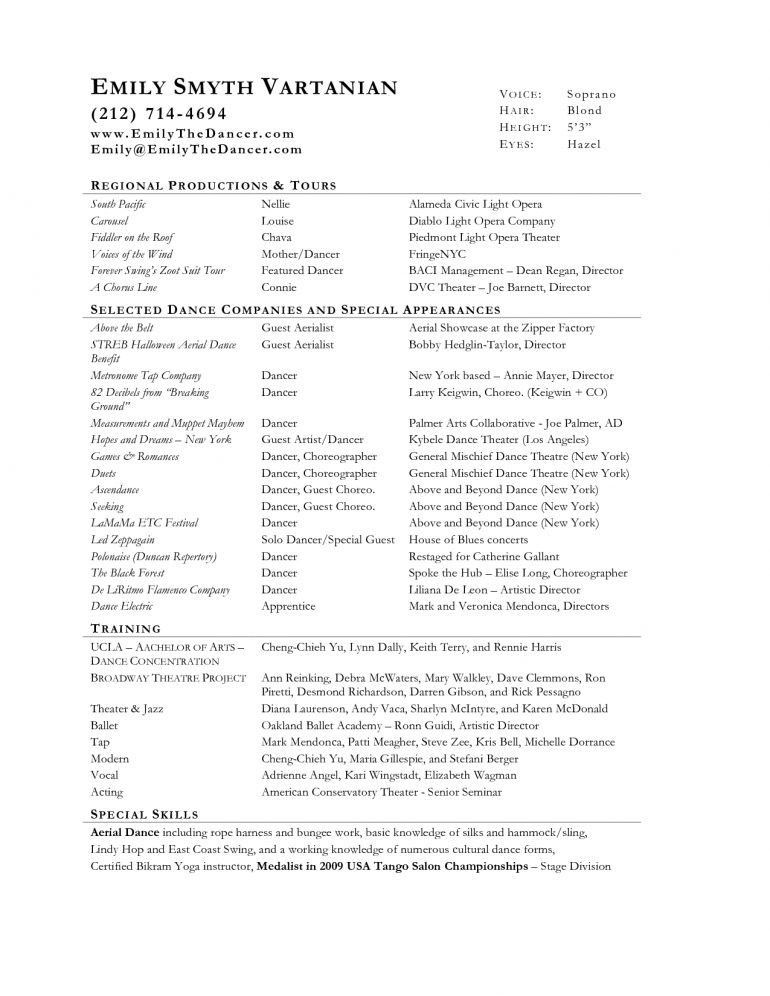 music resume template resume schoodiecom - Music Resume Template