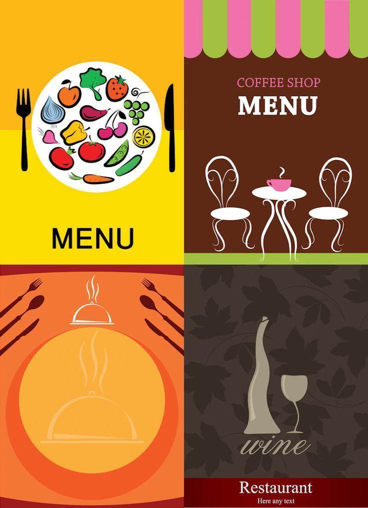 Restaurant menu designs vector | Free Vector Graphic Resources ...
