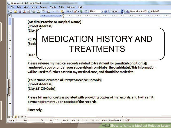 How to Write a Medical Release Letter: 15 Steps (with Pictures)