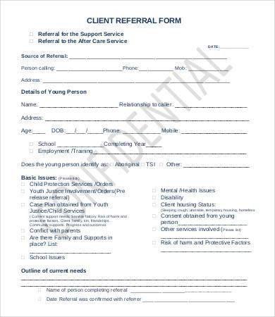 Referral Form Template - 9+ Free PDF Documents Download | Free ...