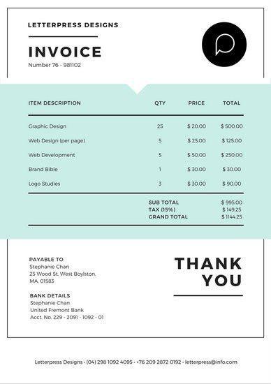 Invoice Letterhead | Job.billybullock.us