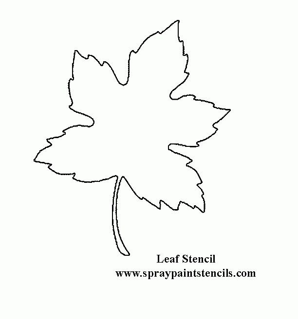 Printable Large Flower Leavestemplate | Leaf Stencil - Not A ...