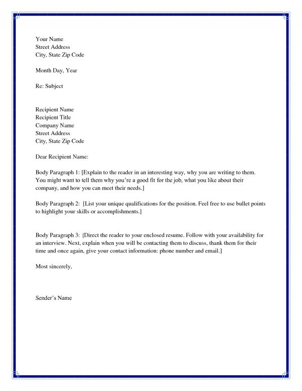 cover letter no templates cover letter without address or name ...