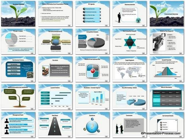 Business Ambition PowerPoint Template Set
