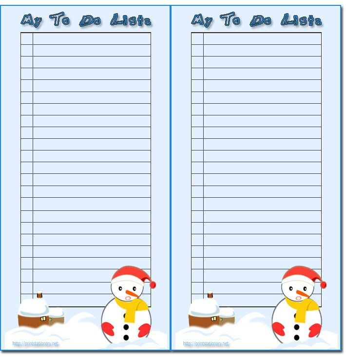 Holiday To Do List Template | to do list template