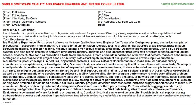 Software Quality Assurance Engineer And Tester Job Title Docs