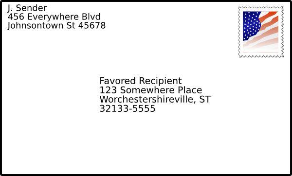 Addressed Envelope With Stamp Clip Art at Clker.com - vector clip ...