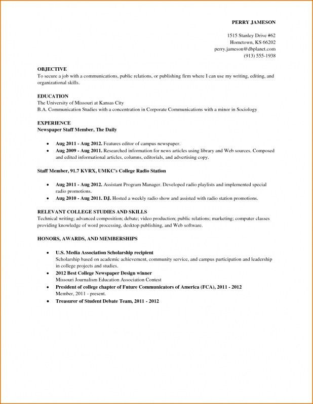 Resume Examples With Little Experience How To Write A Resume With ...