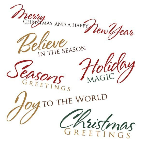 Christmas Card Greeting Words - Christmas Lights Card and Decore