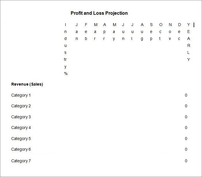 Profit and Loss Statement - Free Templates | Free & Premium Templates