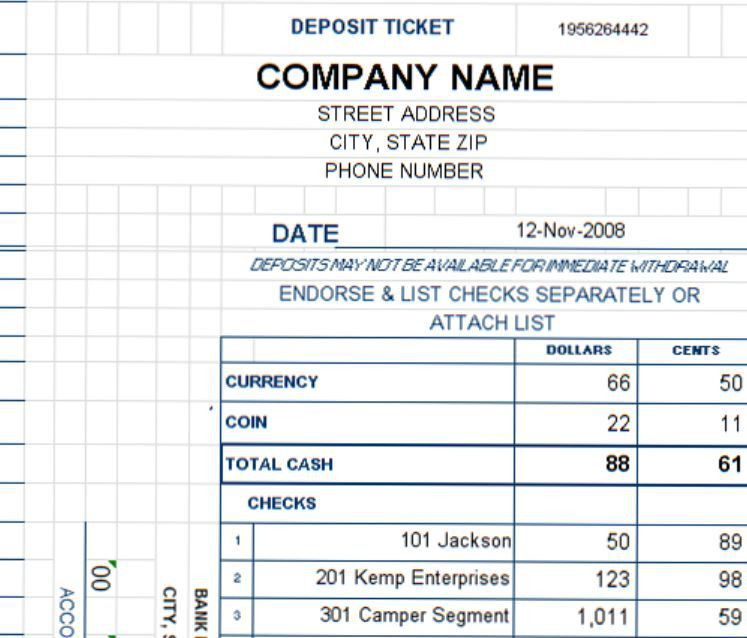 New Deposit Ticket Template Added to Expanded Collection at ...