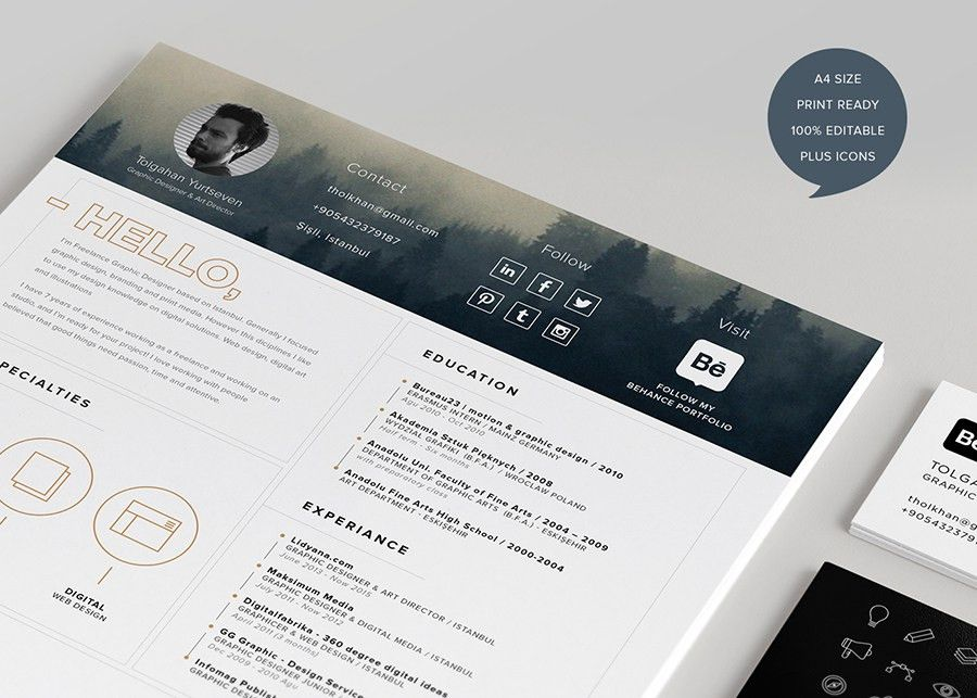 Free Resume Template + Icon - Free Design Resources