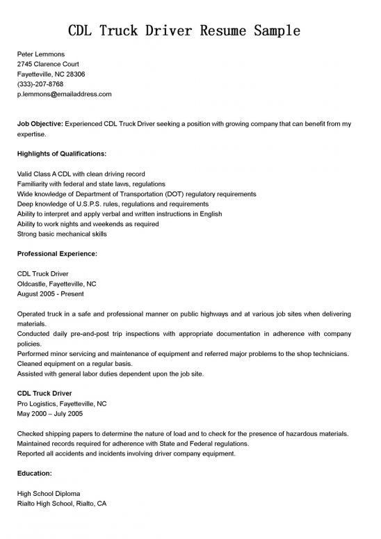 sample resume resume for bus driver with resumes. bus driver cv ...