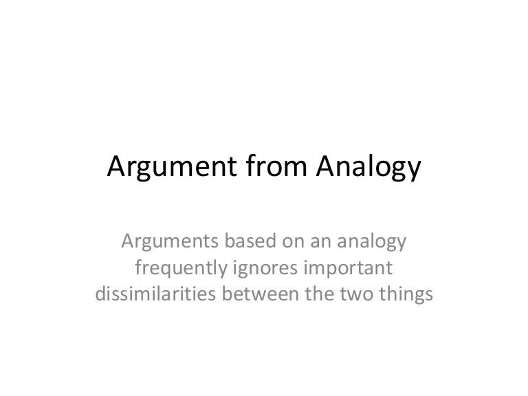 argument from analogy