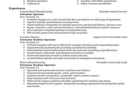 Production Operator Resume] Production Operator Resume Samples ...