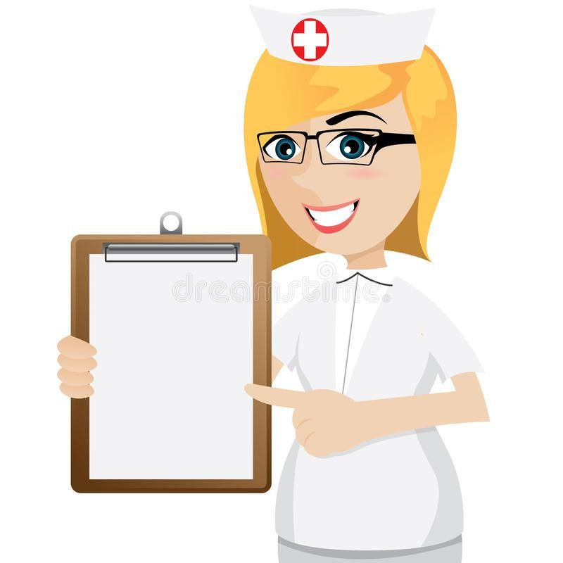 Cartoon Nurse With Blank Document Stock Vector - Image: 40374448