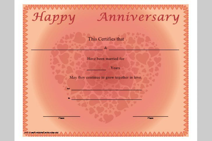 High Quality Free Work Anniversary Certificate Templates | Best And Various . With Anniversary Certificate Template