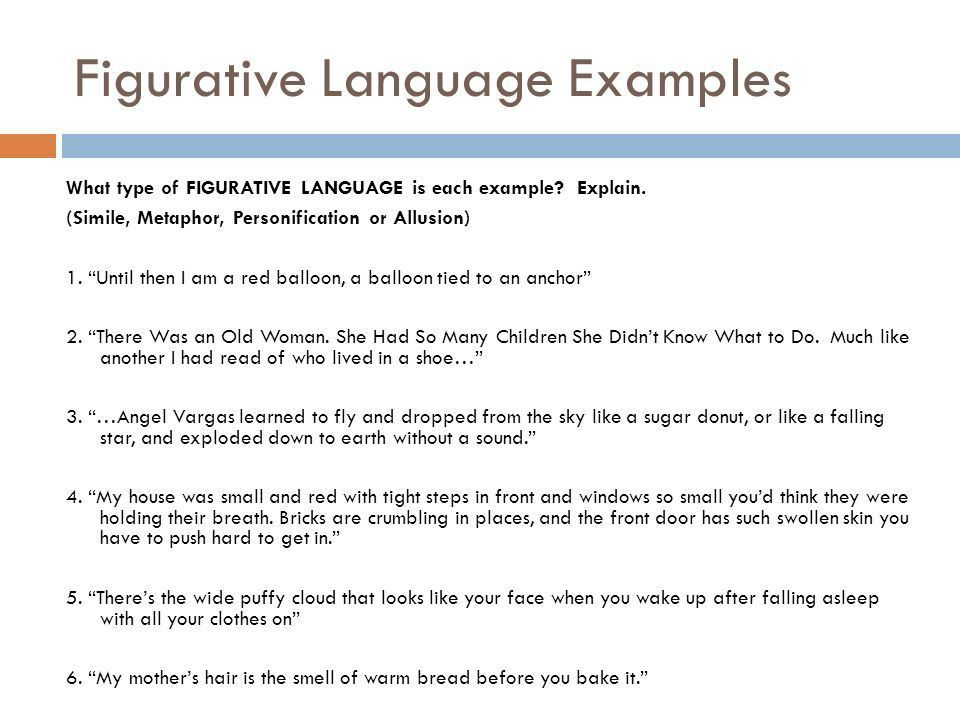 Review of Figurative Language (Simile, Metaphor, Allusion, and ...