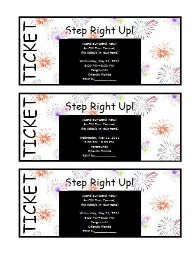 free ticket invitation templates word