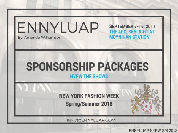 Sponsorship for New York Fashion Week September 2017 – Shop ...