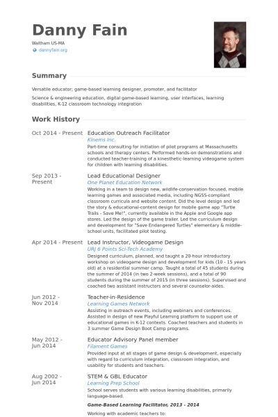 Facilitator Resume samples - VisualCV resume samples database