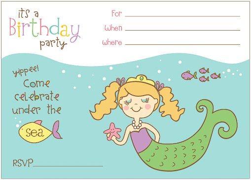 Little Mermaid Pool Party Invitations | futureclim.info