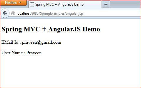 Spring MVC + AngularJS Integration